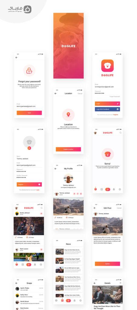 دانلود کیت رابط کاربری اپلیکیشن موبایل حیوانات