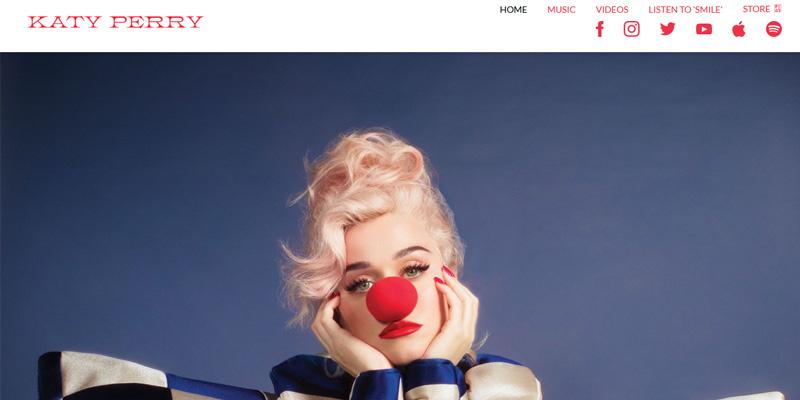 سایت وردپرسی کتی پری خواننده محبوب