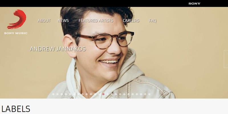 سایت شناخته شده سونی موزیک طراحی شده با وردپرسی