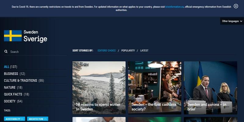 سایت وردپرسی کشور سوئد