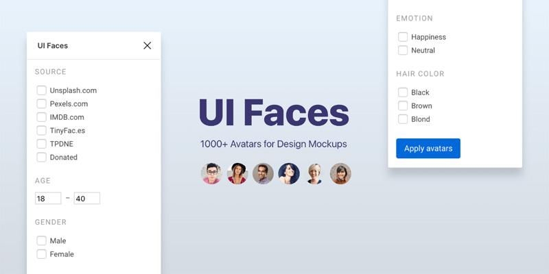 UI Faces افزونه ای کاربردی برای ایجاد آواتار های حرفه ای