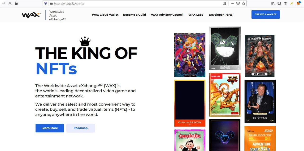 سایت وکس سایتی فوق العاده برای خرید و فروش ان اف تی