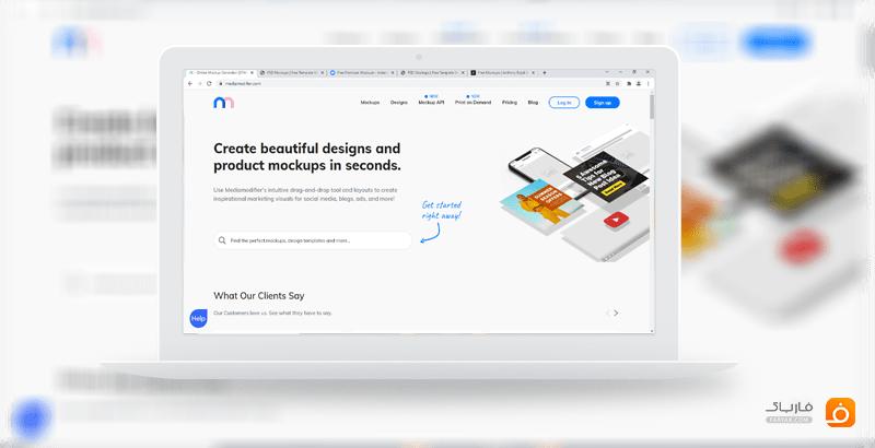 سایت modifier سایتی برای ساخت mockup های زیبا